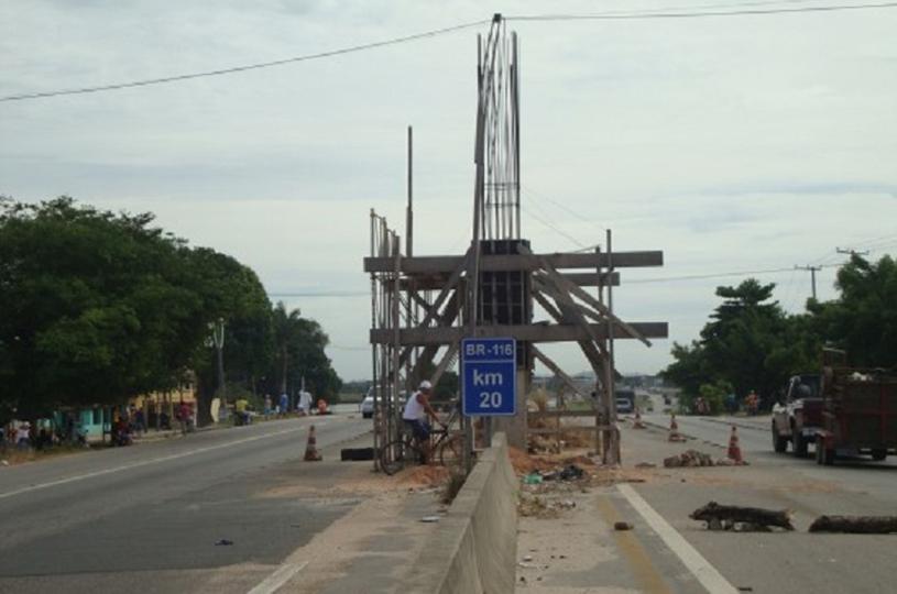 Prefeitura de Eusébio consegue passarelas de  pedestres na BR-116 para o Jabuti e Santo Antônio