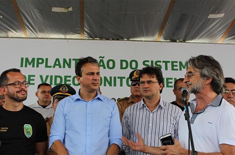 Camilo e Acilon inauguram o Sistema de Videomonitoramento no Eusébio