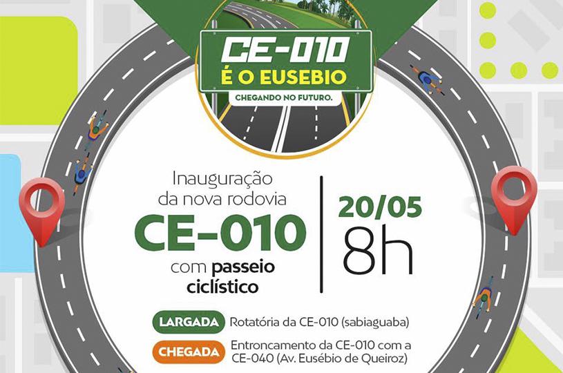 Governo do Estado inaugura CE 010 com passeio ciclístico