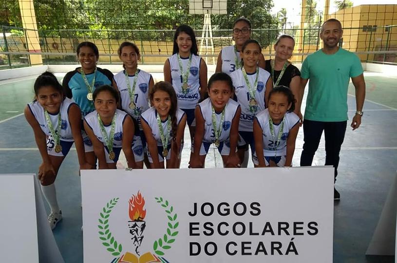 Escolas de Eusébio vencem disputa macrorregional e estão na fase estadual dos Jogos Escolares 2018
