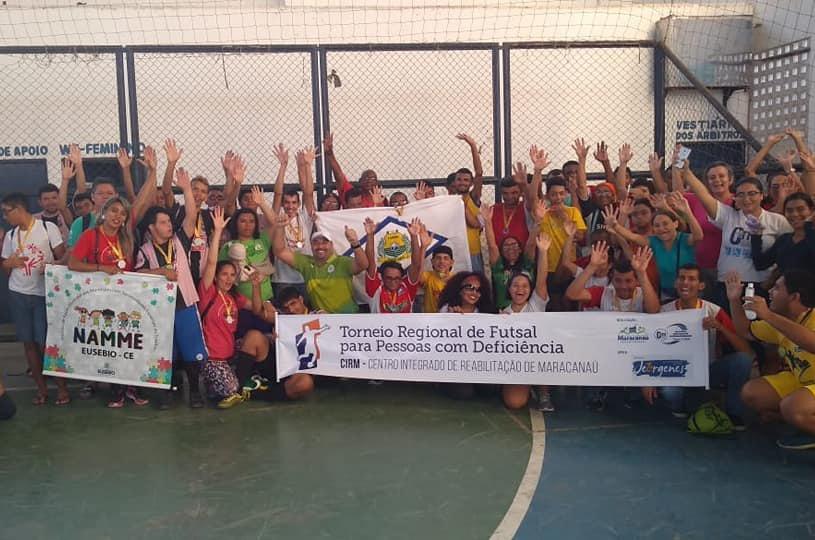 Equipes de Futsal para deficientes de Eusébio vencem torneio em Maracanaú
