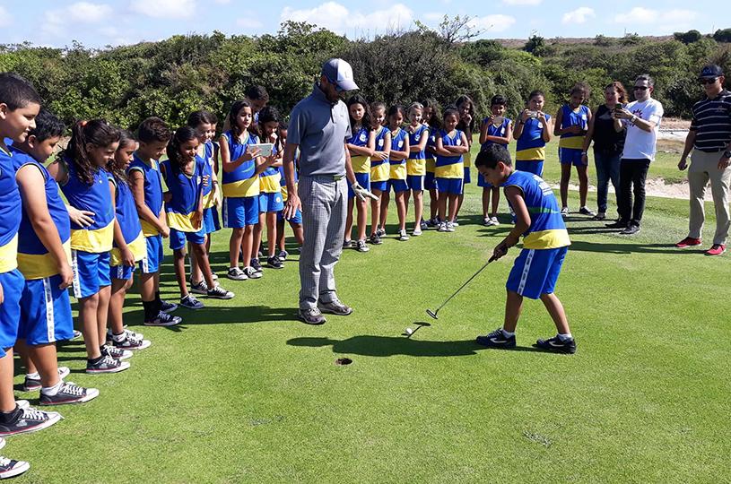 Alunos de Eusébio participam do projeto Golfe na Escola