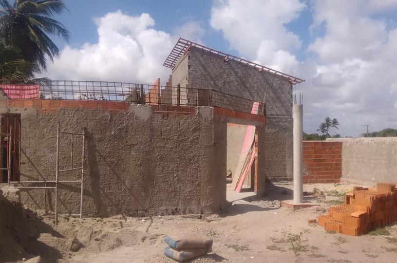 Novo CRAS da Mangabeira está com 50% das obras concluídas