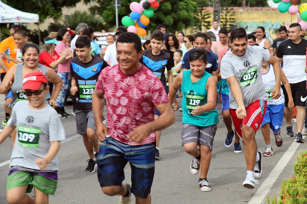 1ª Corrida de Rua Inclusiva de Eusébio tem mais de 200 competidores