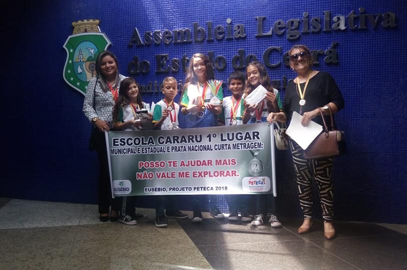 Escola do Cararu recebe certificação de primeiro lugar estadual do Prêmio Peteca