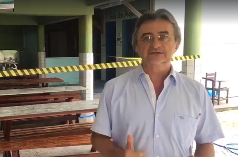 Acilon garante que Escola João de Freitas, alvo de vandalismo, estará pronta na segunda para o início das aulas