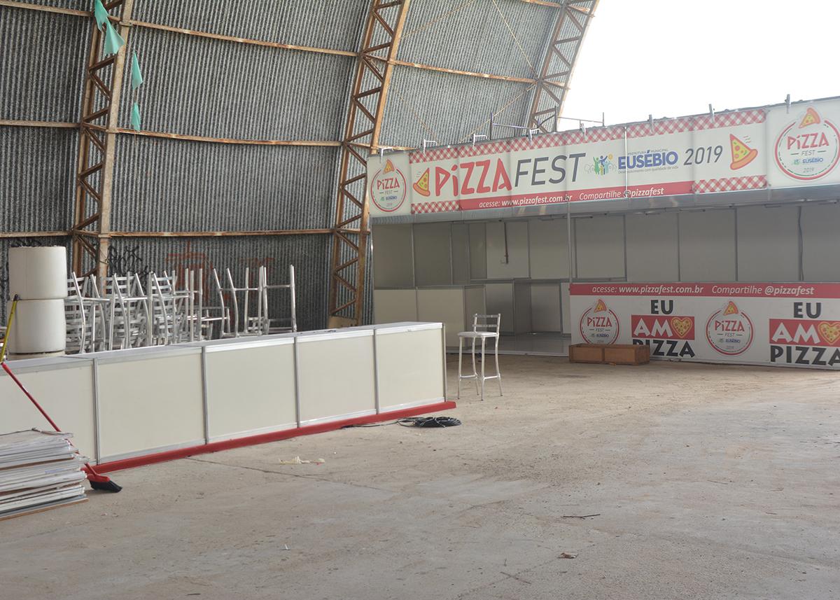 Prefeitura ultima preparativos para  Pizza Fest Eusébio que acontece neste domingo