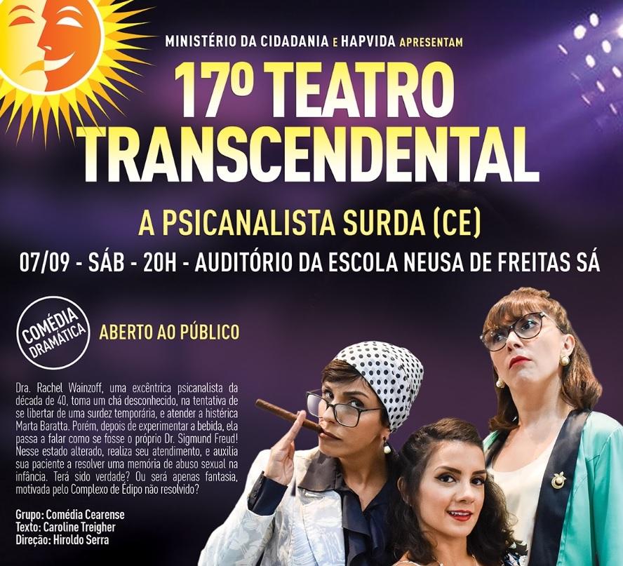 Eusébio recebe sessão itinerante da 17ª Mostra de Teatro Transcendental