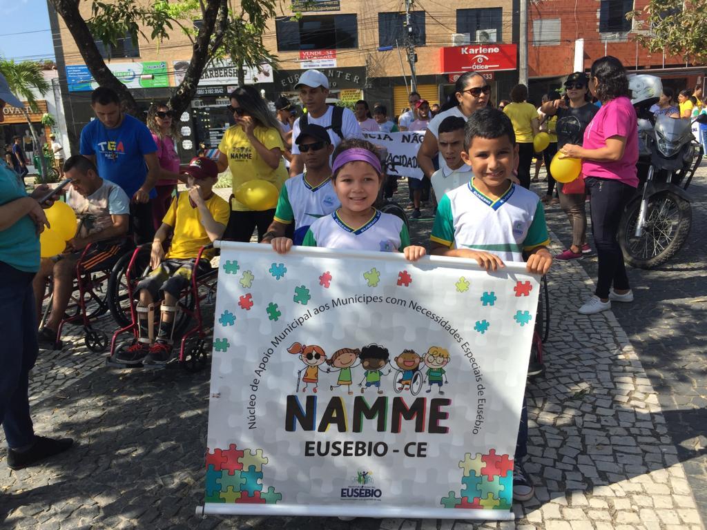 Caminhada abre II Semana Municipal da Sensibilidade da Pessoa com Deficiência