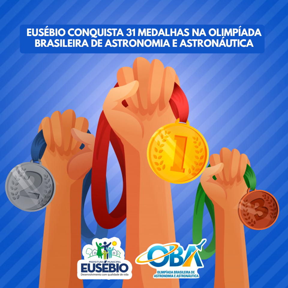 Eusébio conquista 31 medalhas na Olimpíada Brasileira de Astronomia e Astronáutica