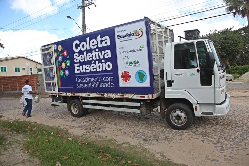Eusébio atinge 95% dos  bairros com coleta seletiva