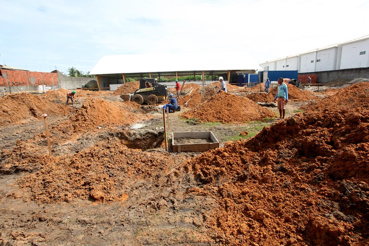 Obras da Escola da Lagoinha  continuam em ritmo acelerado