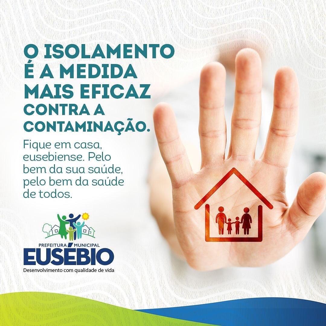 Prefeitura de Eusébio pede a população que fique em casa e respeite o isolamento social