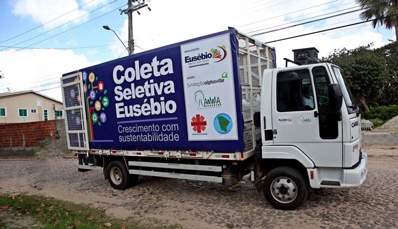 Prefeitura de Eusébio mantém serviço de coleta seletiva apesar do período de isolamento social devido ao coronavírus