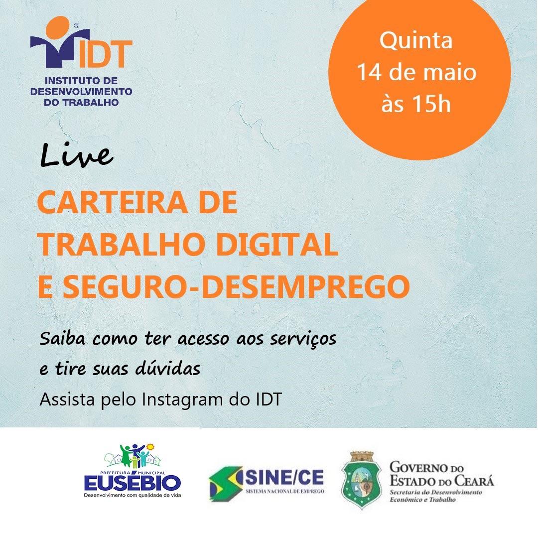 SINE/IDT realiza live e tira dúvidas sobre Seguro-Desemprego e Carteira de Trabalho Digital
