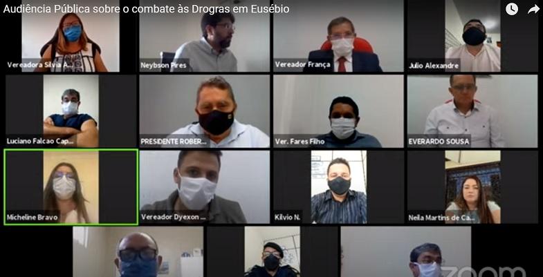 Eusébio lança XII Campanha e Prevenção ao Uso de Drogas em audiência virtual na Câmara Municipal