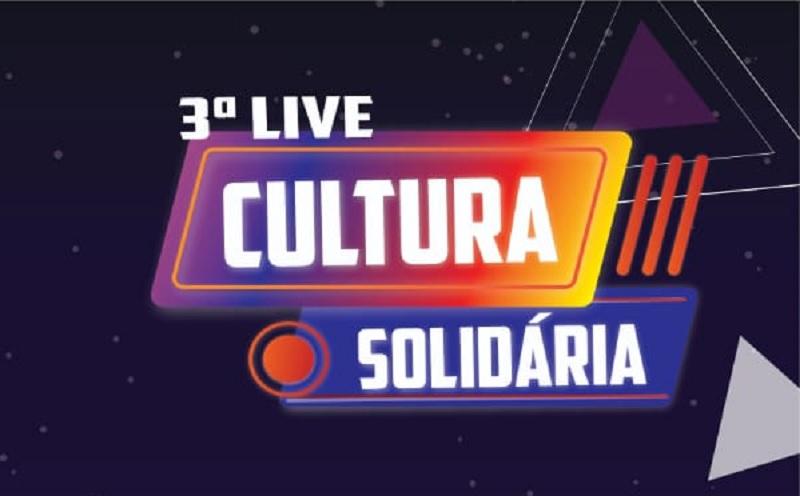 Terceira live Cultura Solidária será realizada nesta sexta-feira, 27