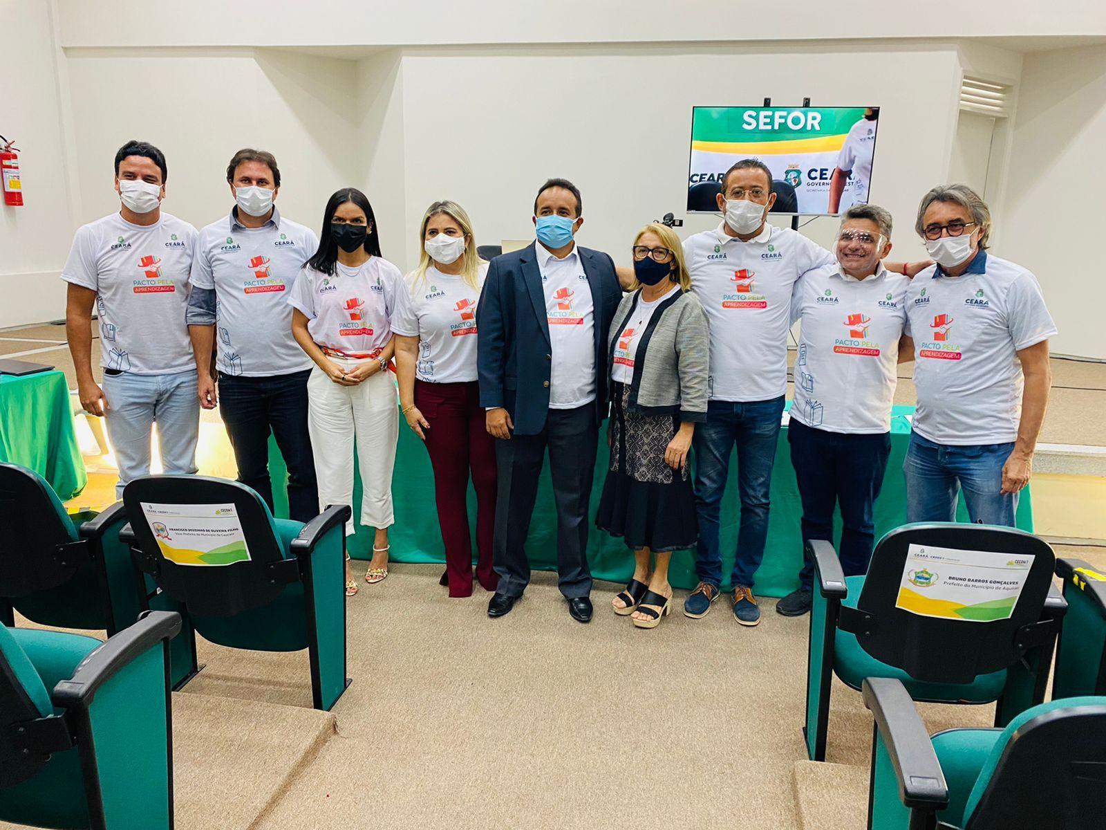 Eusébio participa do Pacto pela Aprendizagem lançado pelo Governo do Estado